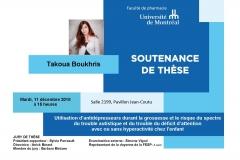 Soutenance de thèse - Mme Takoua Boukris